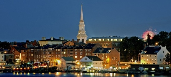 Portsmouth with steeple at night.jpg